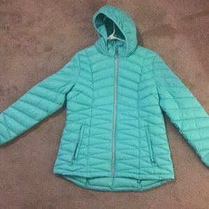 Mint green light winter jacket